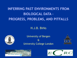 Inferring past environments from biological data