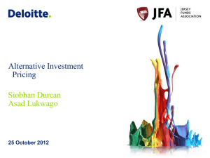 26 October 2012 Alternative Investment Pricing