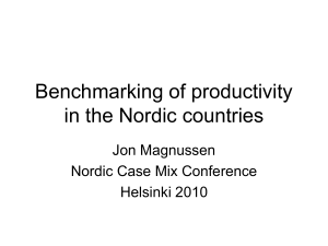 Benchmarking of productivity in the Nordic countries