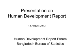 Human Development Report 2013