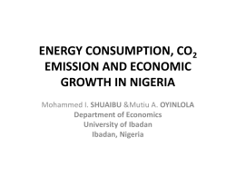 energy consumption, co2 emission and economic growth in