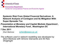 Slides of IMF talk