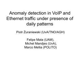 Zuraniewski_Anomaly detection in VoIP and Ethernet