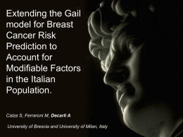 Extending the Gail model for Breast Cancer Risk Prediction to