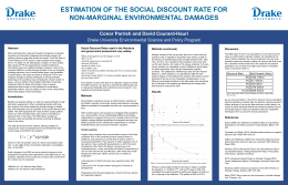 ESTIMATION OF THE SOCIAL DISCOUNT RATE