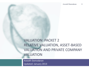 Valuation: Introduction