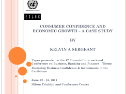 consumer confidence and economic growth