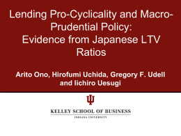 Evidence from Japanese LTV Ratios