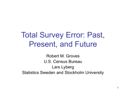 Total Survey Error: Past, Present, and Future