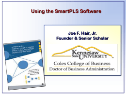 How to use SmartPLS software_Getting Started