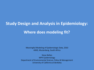 Study Design and Analysis in Epidemiology: Where