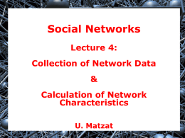 Collection of Network Data