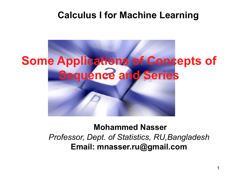 Calculus I for Machine Learning