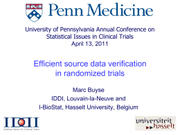 Efficient Source Data Verifications in Cancer Trials