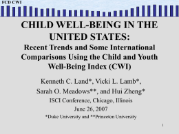 FCD CWI FCD CWI - International Society for Child Indicators