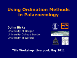 Using ordination methods in palaeoecology