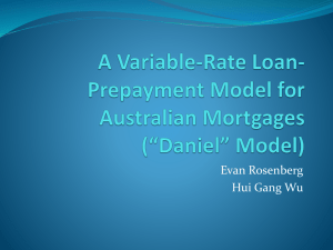 A Variable-Rate Loan-Prepayment Model for Australian Mortgages