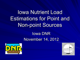 Iowa Nutrient Load Estimations for Point and Non