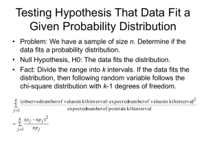 Testing Hypothesis That Data Fits a Given Probability Distribution