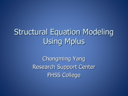 Getting started with mplus version 711 for mac os x and linux structural equation modeling with mplus byu ccuart Choice Image