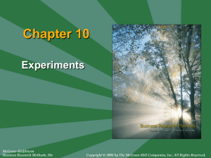 Chapter 10: Experiments