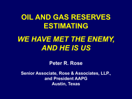07 Oil and gas reserves estimating