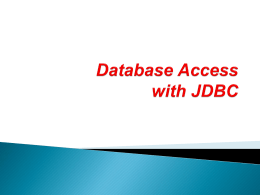 JDBC driver - renenergy2011.net