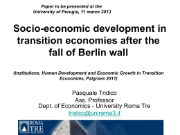 Institutions, Human Development and Economic Growth