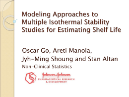 Bayesian Modeling in Accelerated Stability Studies