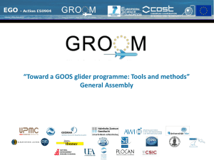 Toward a GOOS glider programme: Tools and methods