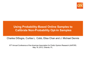 Using probability-based online samples to calibrate non