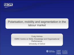Job polarisation in the UK: An assessment and implications for skills