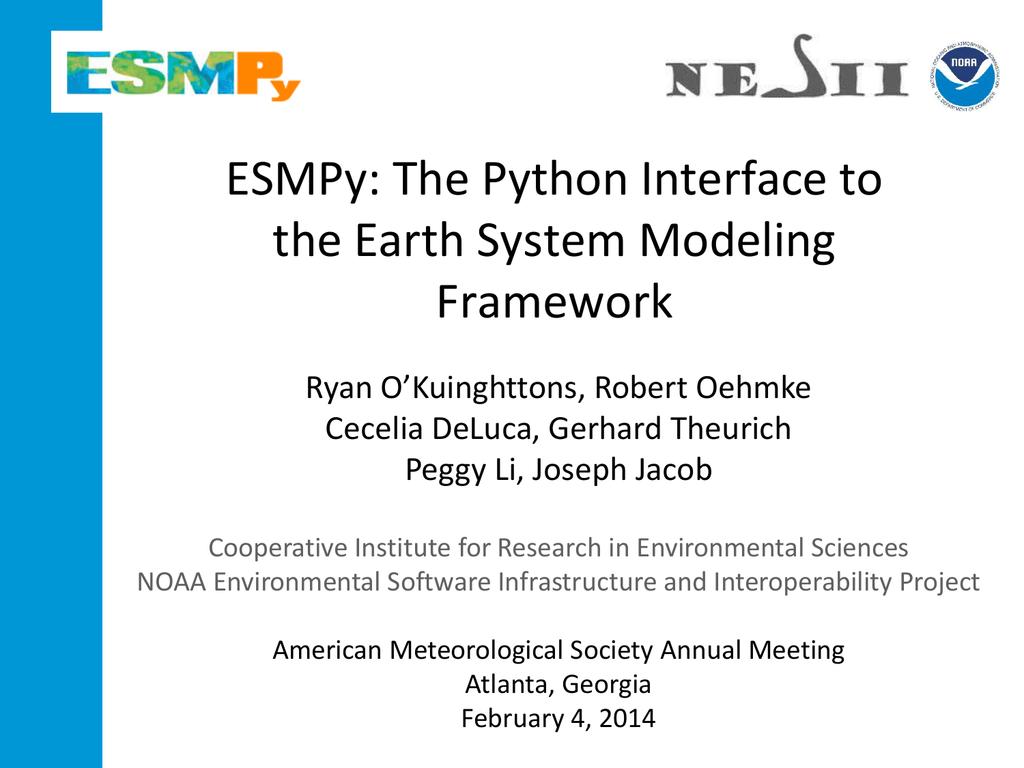 ESMPy - ESMF
