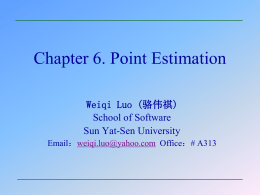 6.1 Some General Concepts of Point Estimation - Sun Yat