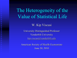 The Heterogeneity of the Value of Statistical Life