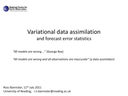 Error covariances in data assimilation