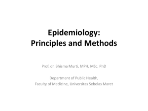 Epidemiology: Principles and Methods
