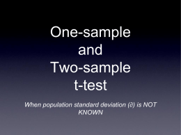 46. PERFORMING ONE-SAMPLE AND TWO-SAMPLE t