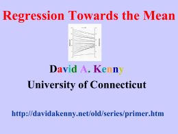 Regression Toward the Mean