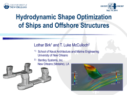 Hydrodynamic shape optimization of ships and offshore - UNO-EF