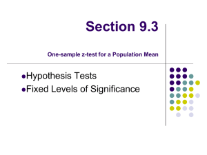 AP Statistics Hypothesis Testing: Mixed Practice For each problem