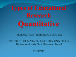 quantitative research presentation