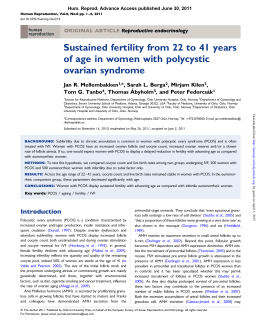 Sustained fertility from 22 to 41 years of age in women with
