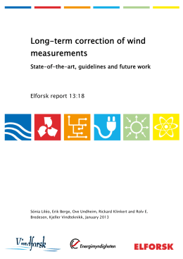 Long-term correction of wind measurements