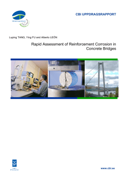 Rapid Assessment of Reinforcement Corrosion in Concrete Bridges