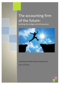 The accounting firm of the future - University of Twente Student Theses