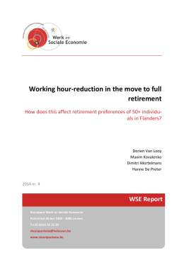 Working hour-reduction in the move to full retirement