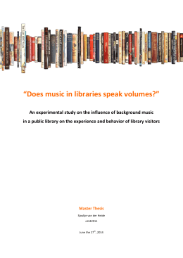 """Does music in libraries speak volumes?"""