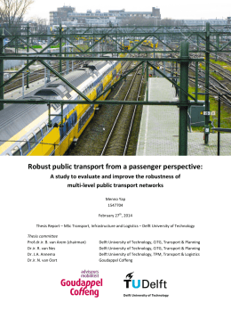 Robust public transport from a passenger perspective: