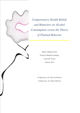 Compensatory Health Beliefs and Behaviors on Alcohol